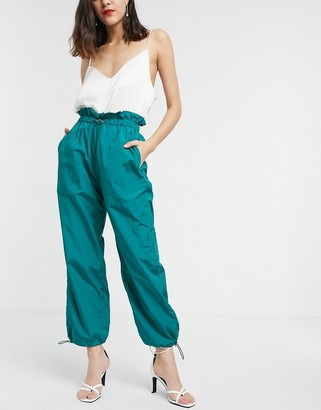 Asos DESIGN paperbag waist jogger with bungee cord