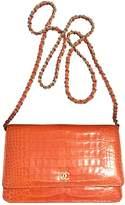 Chanel Wallet On Chain Crocodile Handbag