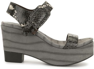 Pedro Garcia Danu snakeskin-effect wedge sandals