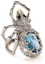 Alexis Bittar Swarovski Crystal Pave Spider Ring