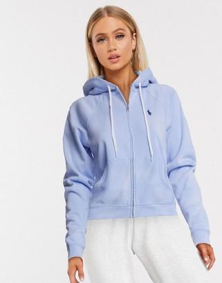 Polo Ralph Lauren tie dye zip through hoodie in blue