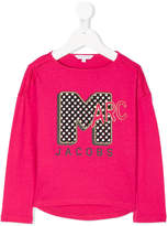 Little Marc Jacobs logo embroidered sweatshirt