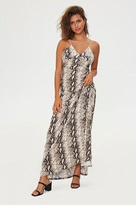 Forever 21 Snake Print Maxi Dress