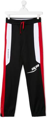 Givenchy Kids contrasting panels track pants