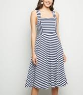 New Look Mela Stripe Sleeveless Midi Dress