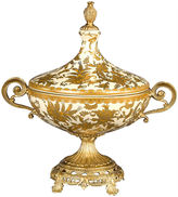 Bradburn Gallery Home 12 Golden Paisley Urn, Gold