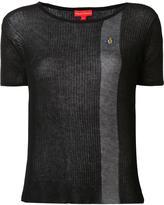 Vivienne Westwood semi-sheer contrast stripe T-shirt - women - Cotton - L