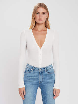 Free People Keep Your Cool Thermal Henley Bodysuit