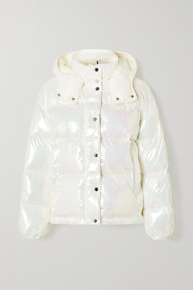 Moncler Daos Iridescent Hooded Quilted Shell Down Jacket - Metallic