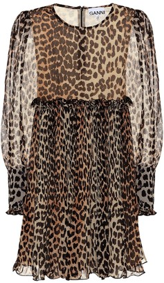 Ganni Leopard minidress