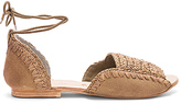 Free People Beaumont Woven Flat in Taupe. - size 38 (also in 39,41)