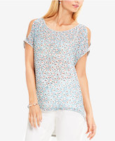 Vince Camuto TWO by Vince High-Low Cold-Shoulder Top