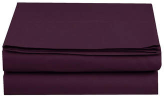 Elegant Comfort Silky Soft Single Flat Sheet California King Purple Bedding