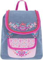 Accessorize Butterfly Embroidery Canvas Backpack