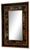 Oriental Furniture Black Lacquer Mirror - Black