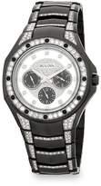 Bulova Men's Crystal-Trimmed Stainless Steel Bracelet Watch