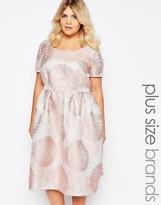 Truly You Brocade Midi Dress