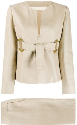 Valentino Pre Owned Belted Two-Piece Suit