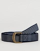 Abercrombie & Fitch Ribbon Belt In Navy Stripe
