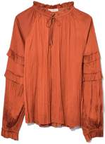 Ulla Johnson Carolina Blouse in Poppy