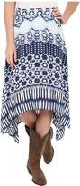 Roper 0235 Aztec Stripe Printed Rayon Skirt