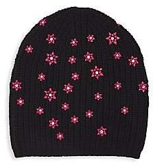 Carolyn Rowan Women's Scattered Geo Flower Merino Wool Beanie