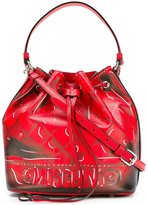 Moschino trompe-l'oeil bucket tote - women - Calf Leather - One Size