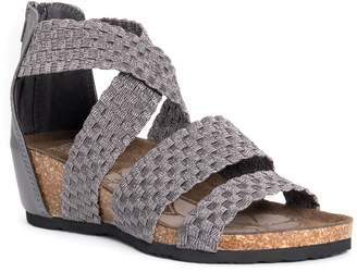 Muk Luks Elle Criss-Cross Woven Wedge Sandal