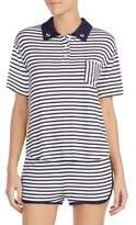 Kensie Striped Shortie Pajamas