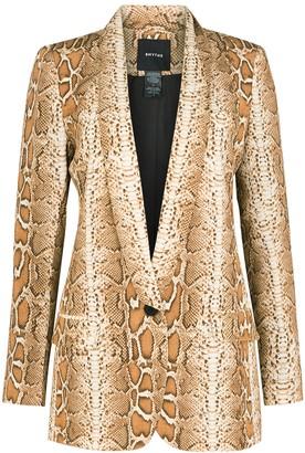 Smythe Brown Python-print Blazer