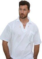 Natural Cotton Cotton Natural Kauai Bead Drawstring Short Sleeve Shirt
