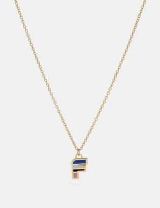 Coach 80'S Retro Alphabet F Charm Necklace