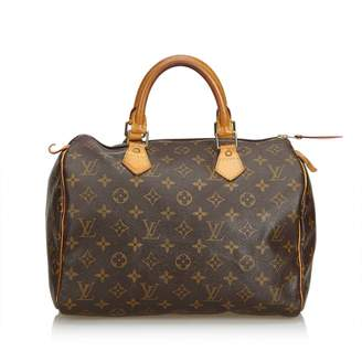 Louis Vuitton Vintage Speedy Brown Cloth Handbag
