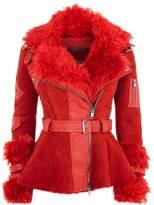Alexander McQueen Suede Shearling Jacket