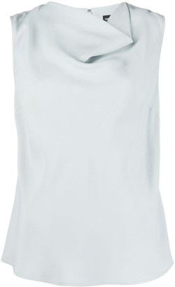 Emporio Armani Cowl Neck Sleeveless Top