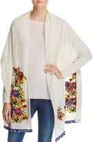 Tory Burch Avalon Floral Embroidered Scarf