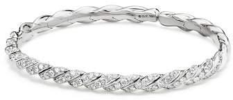 David Yurman Paveflex Bracelet with Diamonds in 18K White Gold