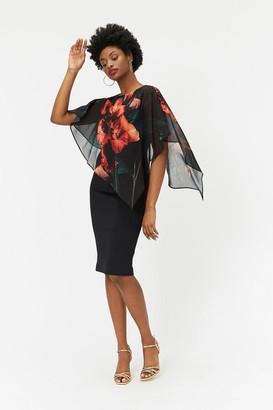 Coast Caped Floral Dress