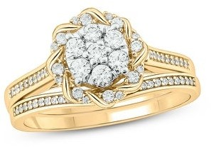 Cali Trove 1/2 cttw Diamond Bridal Ring with band In 10kt Gold