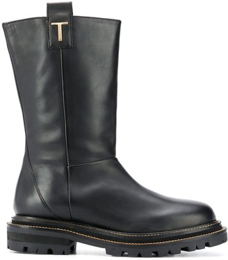 Twin-Set Chunky Sole Calf-Length Boots