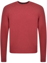 Michael Kors Crew Neck Roll Jumper Red