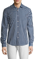 Scotch & Soda Checkered Spread Collar portshirt