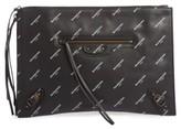 Balenciaga Classic Leather Pouch - Black