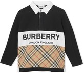 Burberry logo print polo shirt