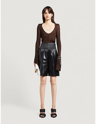 Bottega Veneta Wrap-over silk-blend knitted mini dress