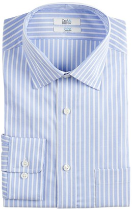 Croft & Barrow Men's Slim-Fit Non-Iron Spread Collar Stretch Dress Shirt