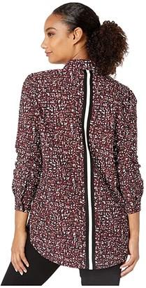 Lysse Wren Microfiber Shirt (Ruby Retro Texture) Women's Clothing