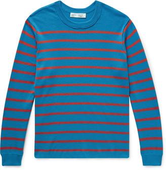 Entireworld Striped Cotton-Blend Sweater