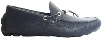 Christian Dior Navy Leather Flats