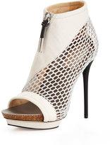 L.A.M.B. Bicara Mesh/Leather Platform Sandal, Light Gray